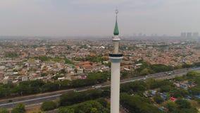 清真寺Al阿克巴在苏拉巴亚印度尼西亚 股票录像