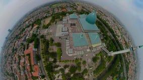 清真寺Al阿克巴在苏拉巴亚印度尼西亚 VR 360 股票视频