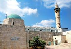 清真寺Al Amari在市拉姆拉 免版税图库摄影