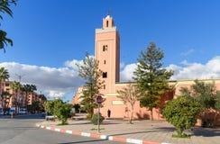 清真寺Anouar在马拉喀什 摩洛哥 免版税库存图片