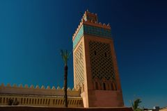 清真寺El Manour,马拉喀什麦地那 免版税图库摄影