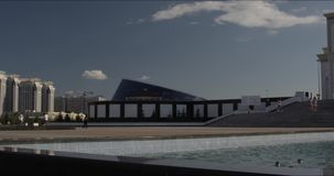 清真寺horisontal panorame在阿斯塔纳哈萨克斯坦 影视素材