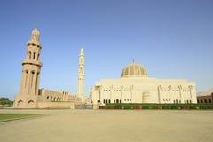 清真寺qaboos苏丹 免版税库存照片