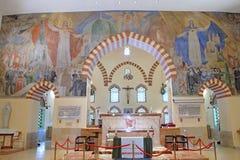 清真寺Qazim和天主教在佩奇匈牙利 库存图片