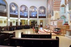 清真寺Qazim和天主教在佩奇匈牙利 免版税库存照片