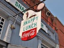 清脆的午餐吃饭的客人 图库摄影