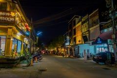 清莱,泰国- 2018年2月01日:一些食品店和本机室外看法在清迈街道与 库存照片