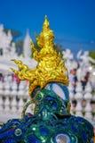 清莱,泰国- 2018年2月01日:Wat荣Khun :铁人雕塑 库存照片