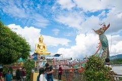 清莱,泰国- 12月30,2017金黄三角著名 免版税库存图片