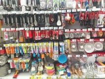 清莱,泰国- 10月28 :厨房犹特语各种各样的品牌  免版税库存照片