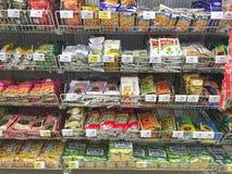 清莱,泰国- 10月28 :干果子和坚果在pac 免版税库存照片