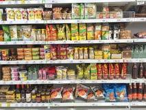 清莱,泰国- 10月28 :快餐各种各样的品牌  免版税库存照片