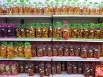 清莱,泰国- 11月25 :快餐由农业p制成 库存照片