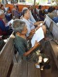清莱,泰国- 12月19 :未认出的亚洲老peop 库存图片