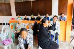 清莱,泰国- 3月2 :未认出的人participati 免版税库存图片