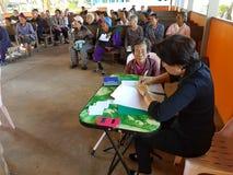 清莱,泰国- 12月19 :未认出的女性亚洲人d 免版税库存图片