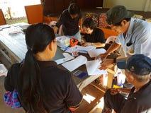 清莱,泰国- 12月19 :未认出的女性亚洲人d 库存照片