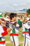清莱,泰国- 9月19 :未认出的学生戏剧 免版税库存照片