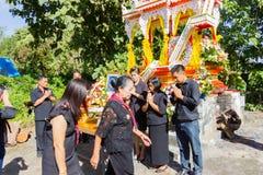 清莱,泰国- 11月19 :死的人家庭感谢 免版税库存图片