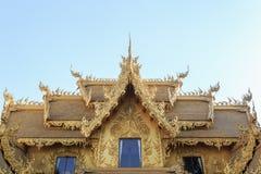 清莱,泰国- 1月21 :Wat荣Khun 库存图片