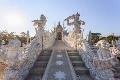 清莱,泰国- 1月21 :Wat荣Khun 库存照片