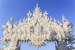 清莱,泰国- 1月21 :Wat荣Khun 免版税库存照片