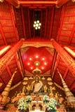 清莱, 1月30,2016的泰国:曼谷玉佛寺,清莱,泰国Ubosoth  修造在城镇Saen样式和房子Phra Jao 图库摄影
