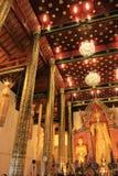 清迈佛教寺庙-内部,泰国 免版税库存图片