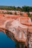 清迈大峡谷峭壁跳跃的斑点,旅行在泰国 库存照片