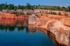 清迈大峡谷峭壁跳跃的斑点,旅行在泰国 免版税库存照片