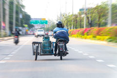 清迈泰国-气体交付 库存照片