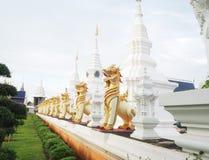 清迈的wat baan小室;泰国 免版税库存照片