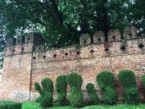 清迈老市墙壁,清迈,泰国,亚洲 免版税库存图片