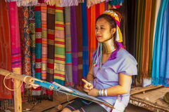 清迈,泰国长收缩的部落村庄 库存图片