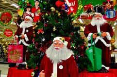 清迈,泰国: 圣诞老人显示 免版税库存图片