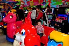 清迈,泰国: 存储玩耍区域的子项 图库摄影