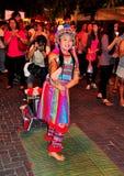 清迈,泰国: 少妇舞蹈演员 库存图片