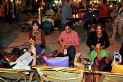 清迈,泰国: 英尺按摩妇女 库存照片