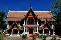 清迈,泰国:Wat城镇Mun图书馆 免版税库存照片