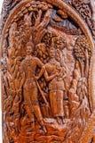 清迈,泰国素贴传奇寺庙Ssangyong浏览报亭和泰国的国王 免版税库存照片