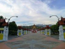 清迈,泰国- 2018年12月6日:皇家Ratchaphruek公园,最大的花公园在清迈,泰国 天空蔚蓝 免版税库存照片