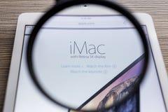 清迈,泰国- 2014年10月21日:苹果电脑网站 免版税库存图片