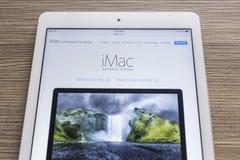清迈,泰国- 2014年10月21日:苹果电脑网站 库存图片