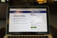 清迈,泰国- 2014年10月02日:Facebook应用si 库存图片