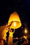 清迈,泰国- 2010年10月20日:小组泰国人la 图库摄影