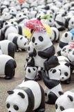 清迈,泰国2016年3月19日:熊猫由前的WWF的世界游览 库存照片