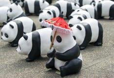 清迈,泰国2016年3月19日:熊猫由前的WWF的世界游览 免版税图库摄影
