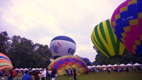 清迈,泰国- 2014年11月-热空气气球,国际气球节日 股票录像