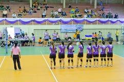 清迈,泰国- 5月5 :第33大学体育manageme 免版税库存照片