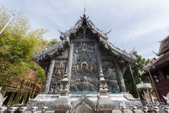 清迈,泰国- 1月17 :美丽的寺庙(Wat Sri素攀武里) 库存照片